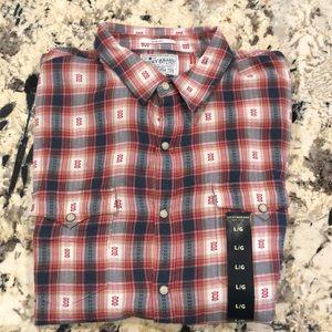 Lucky Brand Plaid Long-Sleeve Western Shirt